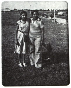 Ana Yadira, aged 11, and Maria Adela de Recinos, in 1980