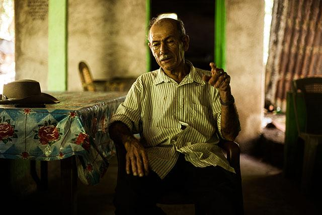 Andrés Romero is an iconic survivor of the massacre of Tenango. He found three of his children after being imprisoned and tortured by the Treasury Police. He is still searching for his wife, who disappeared during the same military operation in which he lost his three children, who he later recovered. Photo: Fred Ramos