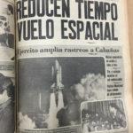 """La Prensa Gráfica, 13 de noviembre de 1981. El titular lee, """"Ejército amplía rastreos a Cabañas"""". / La Prensa Gráfica, November 13, 1981. Headline reads, """"Army widens sweeps in Cabañas""""."""